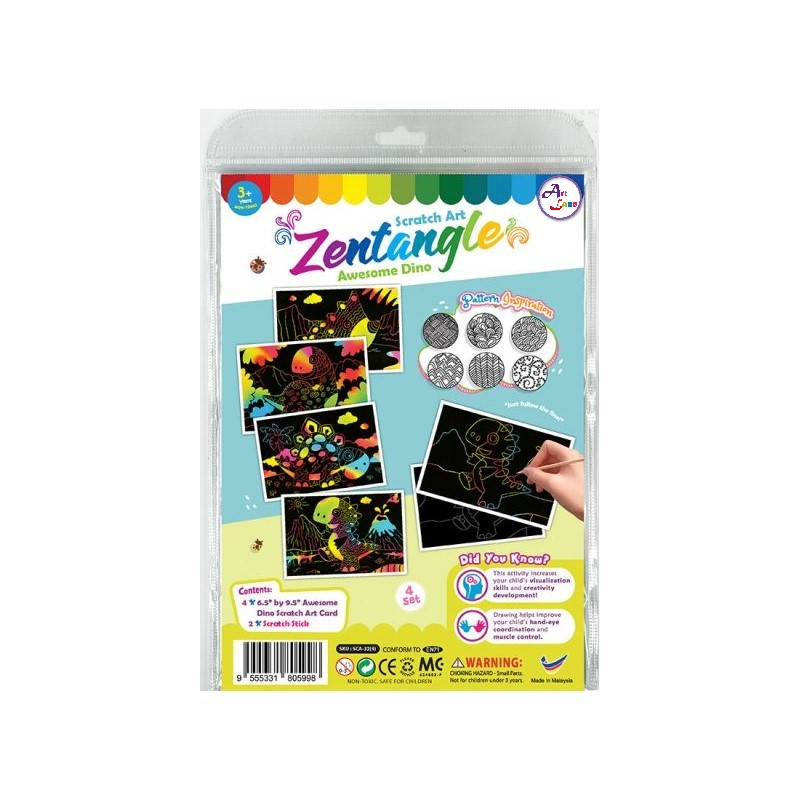 scratch-art-zentangle-awesome-dino-Front packaging-01