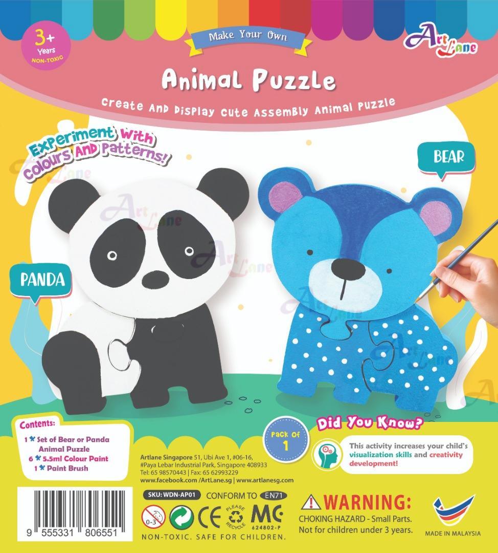 Animal Puzzle – Panda or Bear