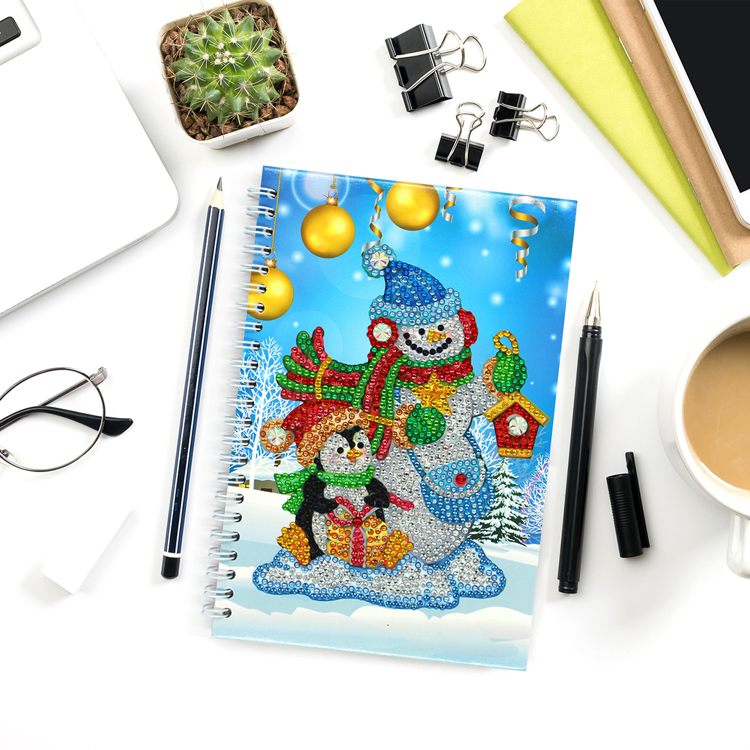 Diamond Notebook Snowman 2