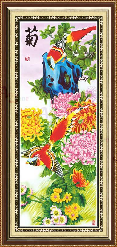 91148鸟语花香-菊效果图