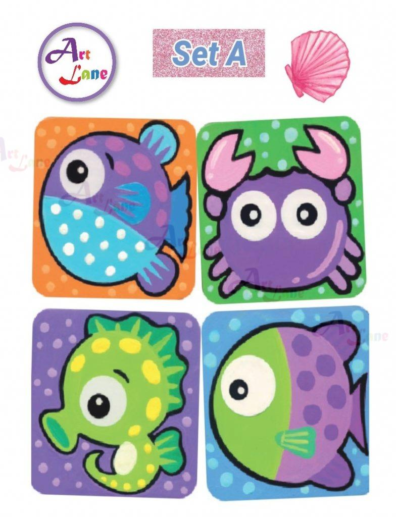 Sea-Animal-Coaster-Set-A-784×1024 with watermark