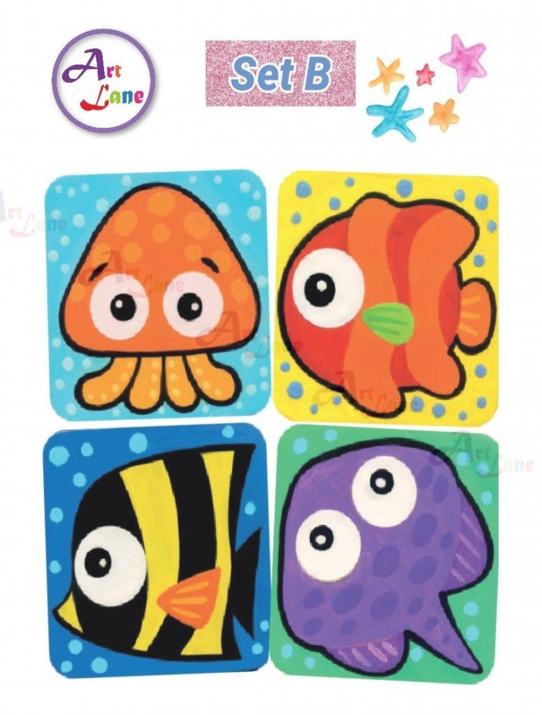 Sea-Animal-Coaster-Set-B-776×1024 with watermark