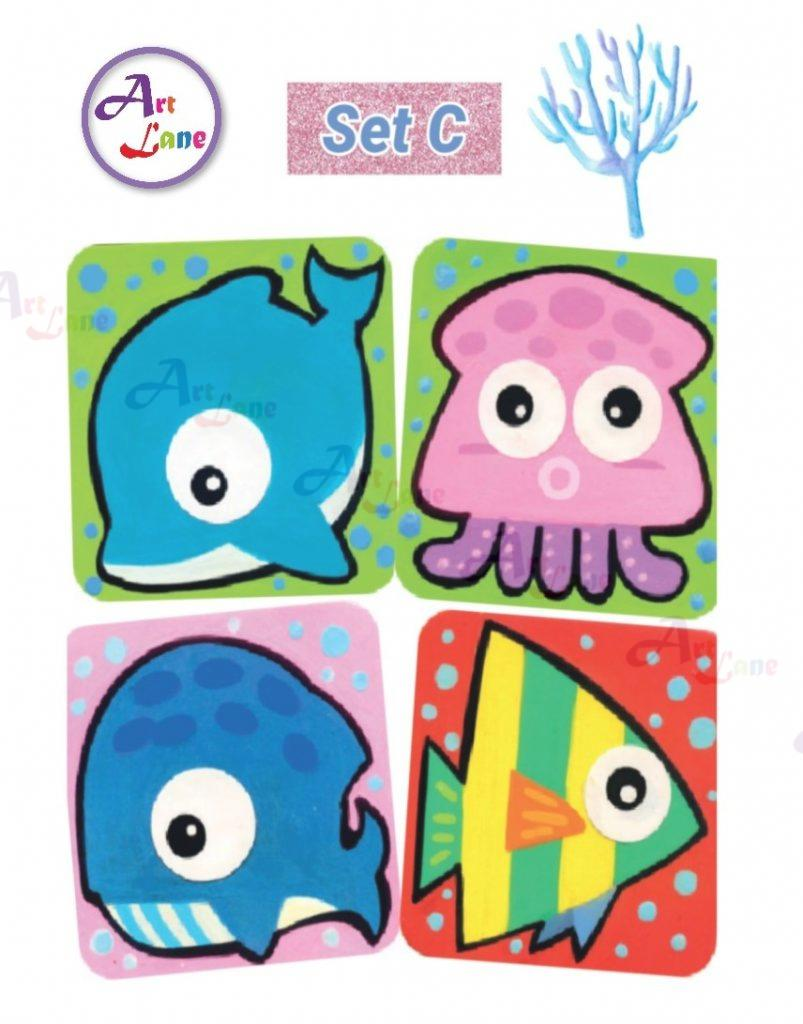 Sea-Animal-Coaster-Set-C-803×1024 with watermark