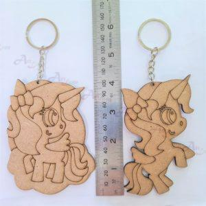 Unicorn Keychain Painting dimension