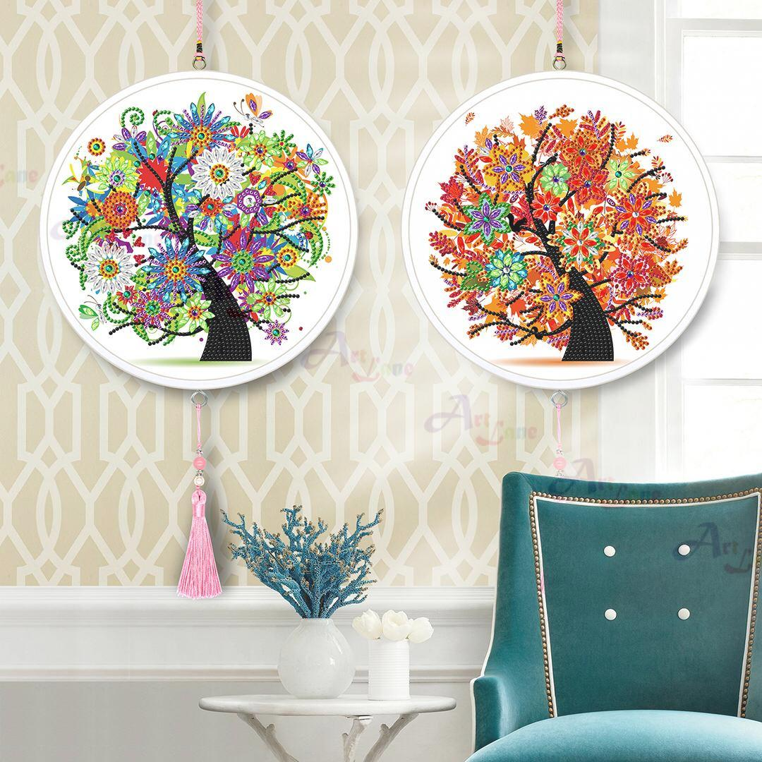 Round-Frame-Trees with watermark