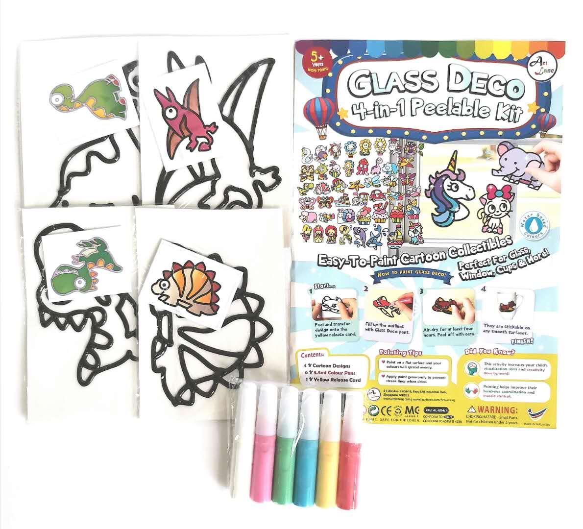 Glass deco set of 4 – 1