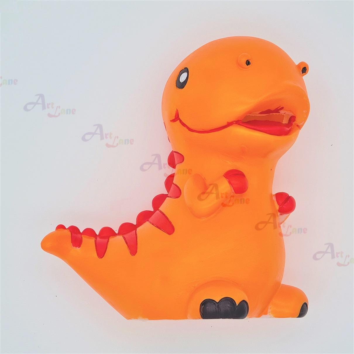 Coin-Bank-Orange-Dino with watermark