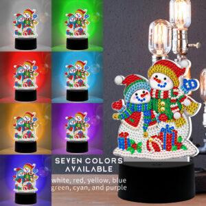 LED Snowmen Colors