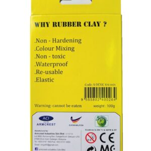 Rubber Clay - 8 Piece Set Back
