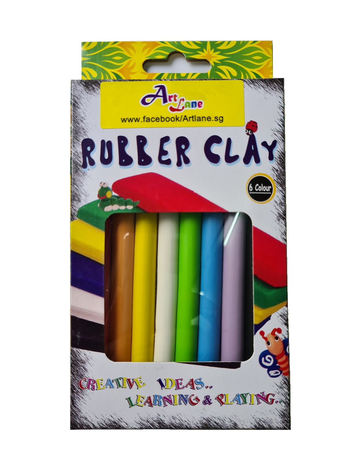 Rubber Clay – 8 Piece Set Front
