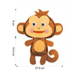 felt-monkey-keychain Dimension