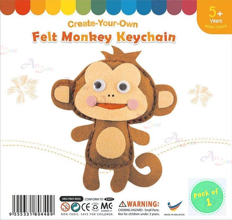 felt-monkey-keychain with watermark