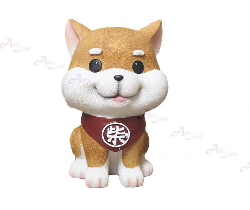 Coin Bank -Brown Doggy with watermark