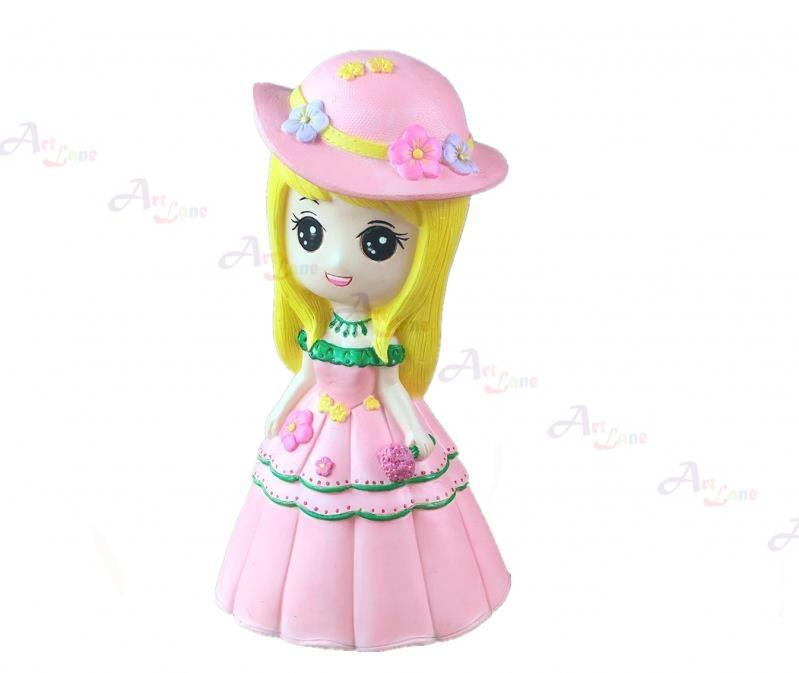Coin Bank – Pink Girl With Hat with watermark