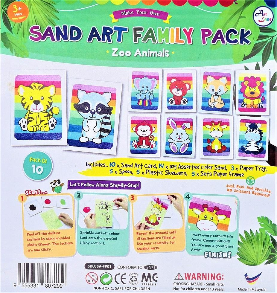 Sand Art Zoo Animals