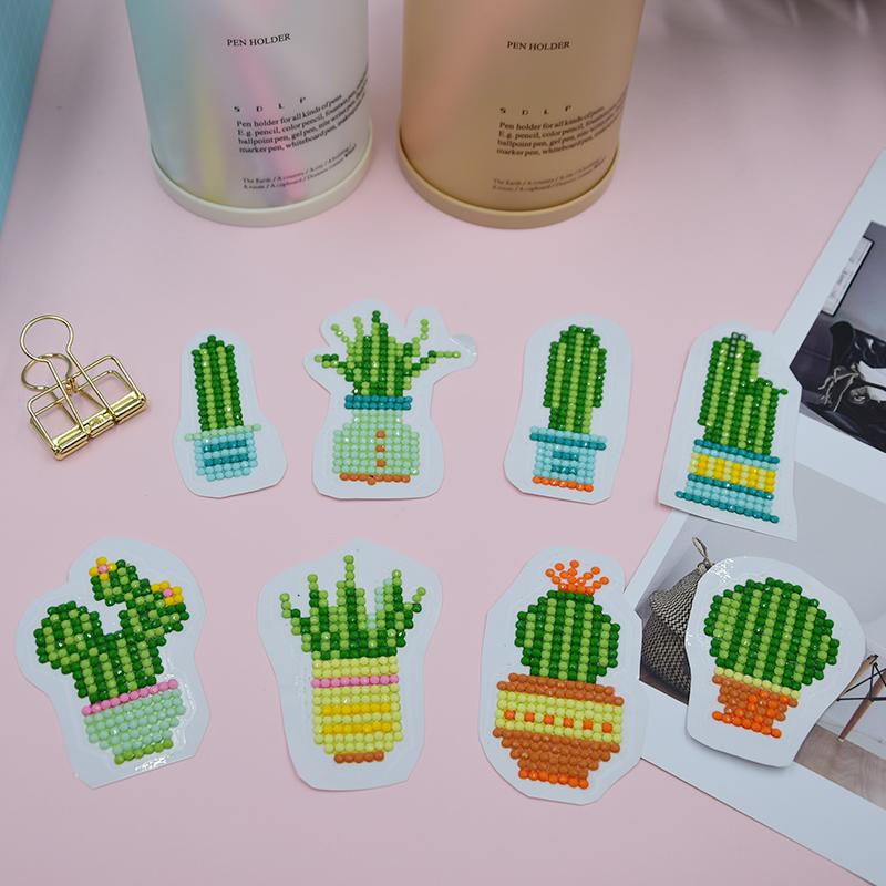 T021_-Cactus 8pcs sticker